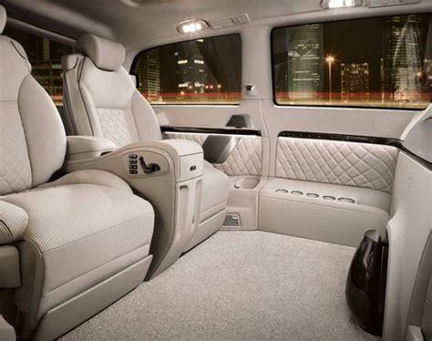 luxury minivan interior interior of a mercedes benz viano vision luxury