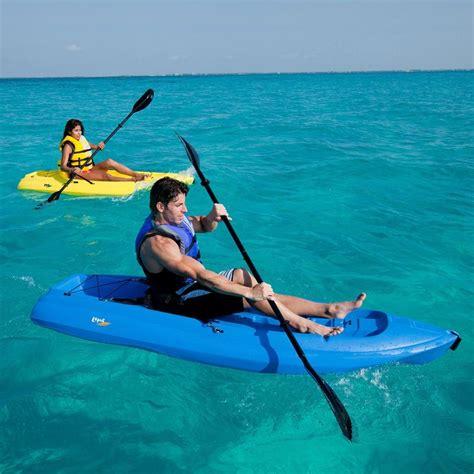 kayak club boats lifetime 8 adult kayak boat with paddle backrest blue