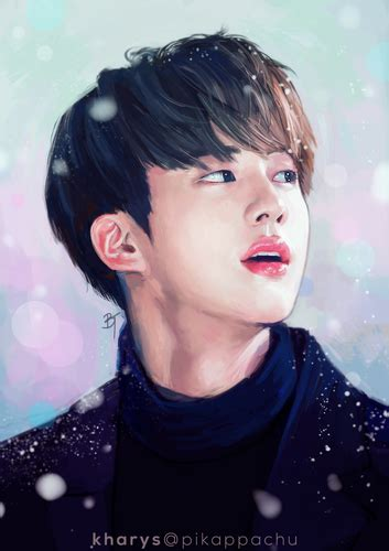 bts jin wallpaper tumblr bts images jin fanart hd wallpaper and background photos