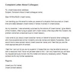 complaint letter about coworker sample just letter templates