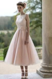 mariage vintage chãªtre blushing pink tulle illusion informal tea length wedding dress instyledress co uk
