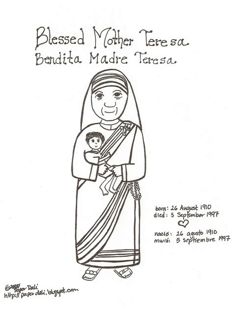 paper dali happy birthday mother teresa