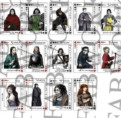 0007466064 a song of ice and a song of ice and fire game of thrones playing cards aftcra
