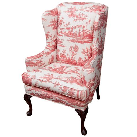 queen anne chair slipcover queen anne style wing chair at 1stdibs
