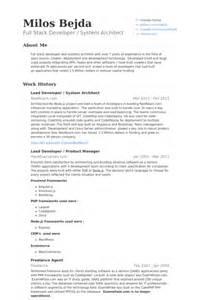 Lead Architect Sle Resume by Lead Developer Resume Sles Visualcv Resume Sles Database