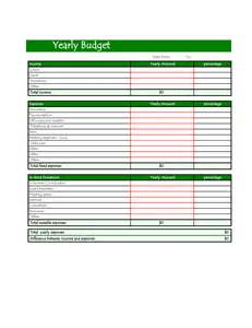 Annual Budget Template Excel Best Photos Of Annual Budget Template Yearly Personal