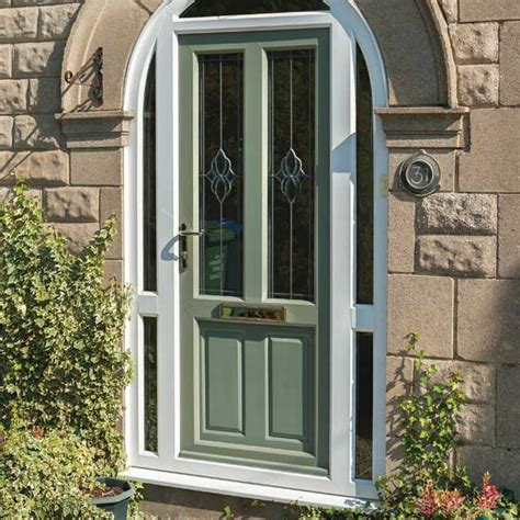 Upvc Front Doors Entrance Doors Inspire Green Upvc Front Doors