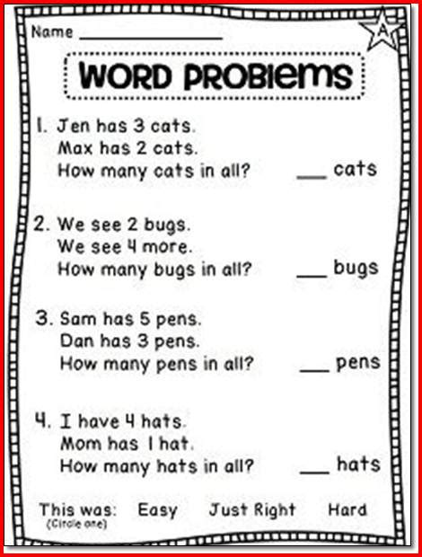 1st Grade Math Worksheets Word Problems 1st grade word problems worksheets photos motorobilia