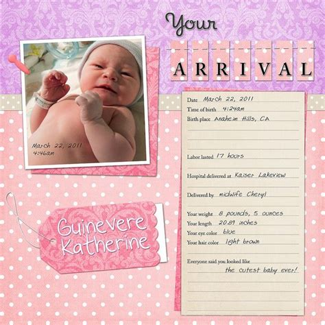 scrapbook layout idea books your arrival baby scrapbook scrapbook and scrapbooking