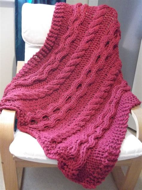 chunky cable knit throw blanket pattern eternal chunky cable blanket throw knitting pattern