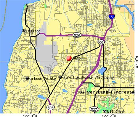 zip code map everett wa everett washington map