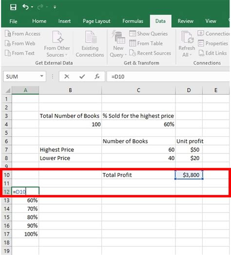 two variable data table excel learn one variable data table two variable data table