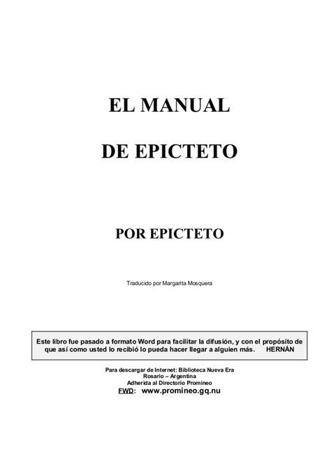 Epicteto: Manual de vida
