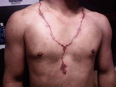 cross necklace tattoos 8 necklace designs