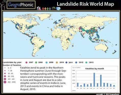 landslide risk world map purposegames