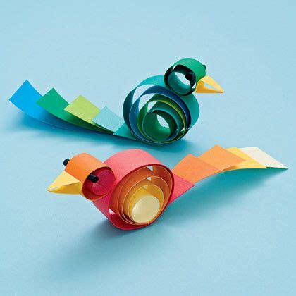Easy Papercrafts - curly birds paper crafts origami easy paper