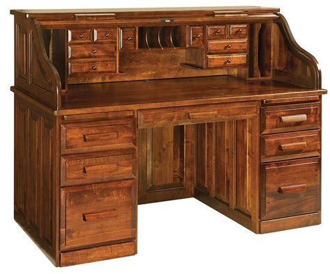 roll top desk with hutch classic rolltop desk from dutchcrafters amish furniture