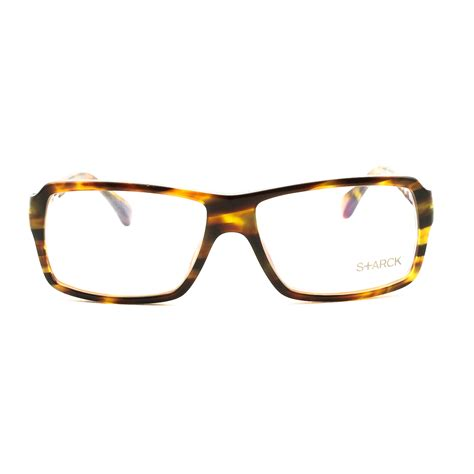 starck eyeglasses pl1061 col 0013 brown with