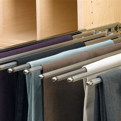 Slide Out Pant Rack by Rev A Shelf Closet Or Wardrobe Chrome Pull Out Rack