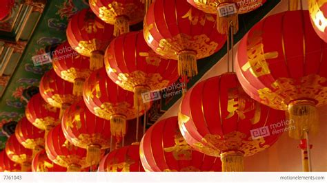 new year warrior lanterns 4k paper lanterns in the temple for