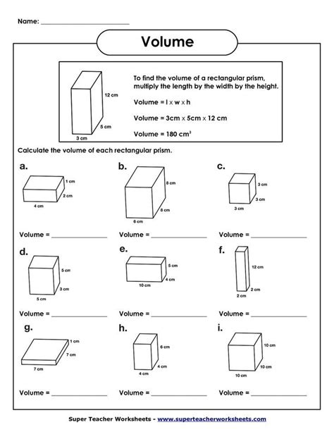 capacity worksheets lesupercoin printables worksheets volume of rectangular prism worksheet volume worksheets