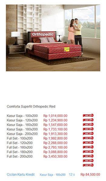 Bed Comforta Di Bandung kasur comforta harga bed termurah di indonesia