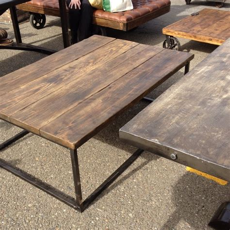 industrial coffee table reclaimed wood table at alameda antique fair