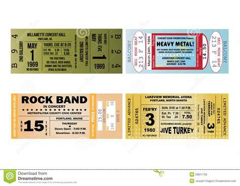 illustrator ticket template concert ticket illustrations stock photo image 23811750