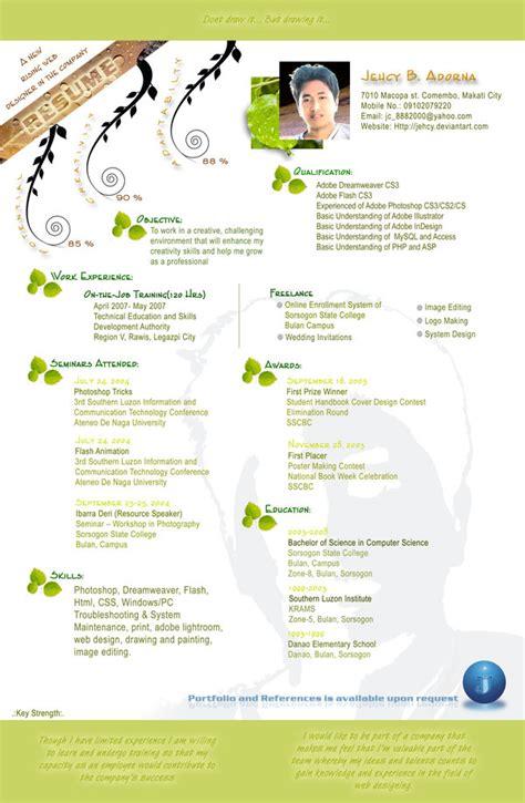 exles of creative graphic design resumes infographics 2012