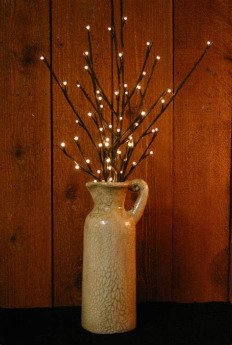 battery operated willow twig  carafe vase light