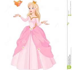 le prinzessin prinses en vogel vector illustratie afbeelding bestaande