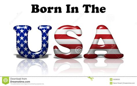 Born In The USA Stock Photos   Image: 26298303