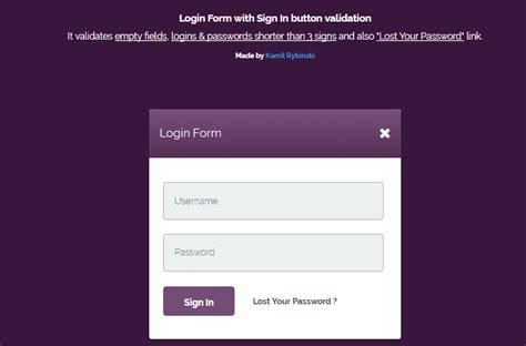 tutorial css login form 60 free css3 login form templates 2018 wpshopmart