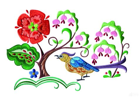 design embroidery online a birds paradise jf309 embroidery design