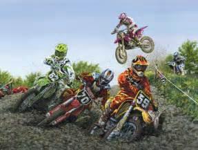 motocross mural framed canvas art