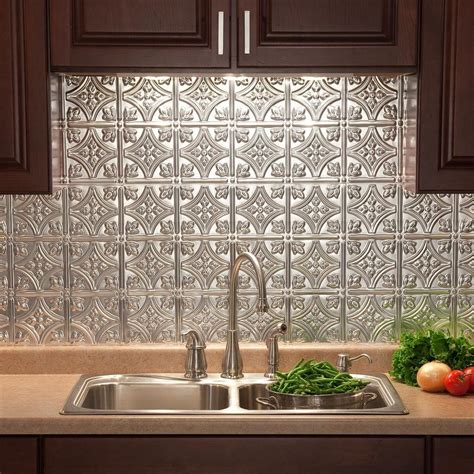 Fasade 24 In X 18 In Traditional 1 Pvc Decorative Pvc Backsplash Panel