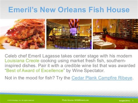 emeril s new orleans fish house your complete guide to food fun at mgm grand las vegas