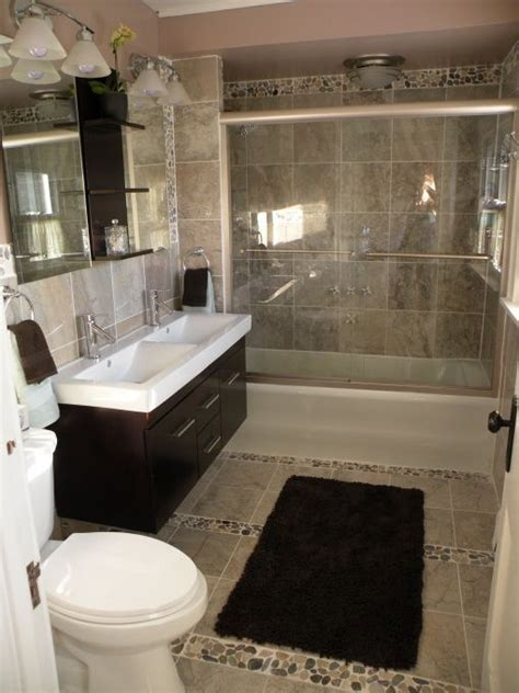 river rock tile vanity bathroom remodel ideas