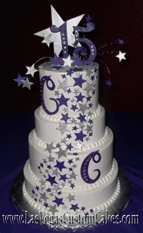quinceanera themes shining under the stars cakes quinceanera las vegas custom cakes