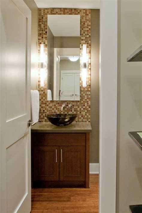 contemporary powder room small vanity mirror design powder room decorating ideas