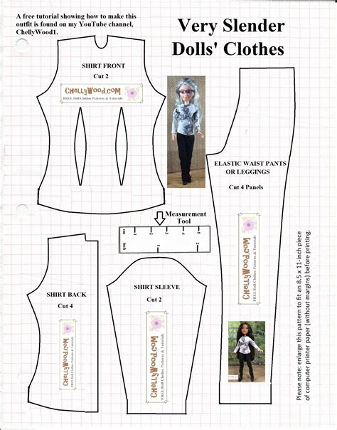 shirt pattern for doll diy pants tutorial video for dolls chellywood com