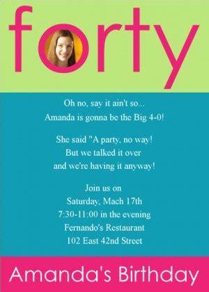 40th birthday invitation wordings invitations for 40th birthday quotes quotesgram