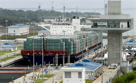 Photo Panama Canal by Vessel Passes Through Newly Expanded Panama Canal