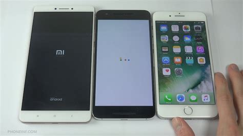 xiaomi mi max vs nexus 6p vs iphone 7 plus speed comparison