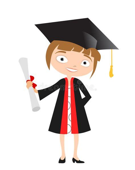 clipart laurea laureato della ragazza illustrazione vettoriale