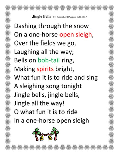 eminem jingle bells lyric christmas activity teaching vocabulary with lyrics from