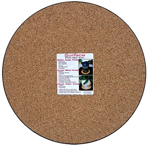 floor protectors for plants cwp mc 1400 plant mat natural cork 14 inch home garden