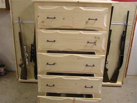 Dresser With Gun Storage by Handmade Rustic Pine Dresser With Gun Storage By New