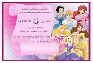 convite princesas disney sheila maiza oliveira elo7