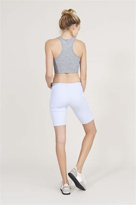 athena crop top with lavender rib shorts from outdoor voices ov shorts